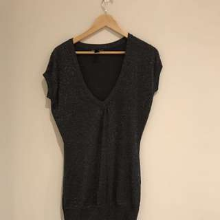 MNG Sparkly Sweater Knit Top Dress.