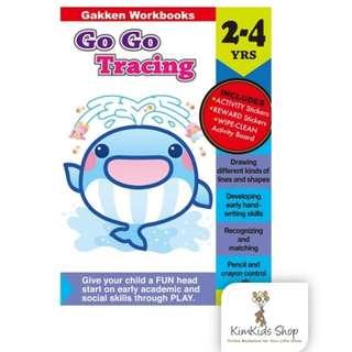 Gakken GO GO Activity Book - Tracing (2-4 Years)