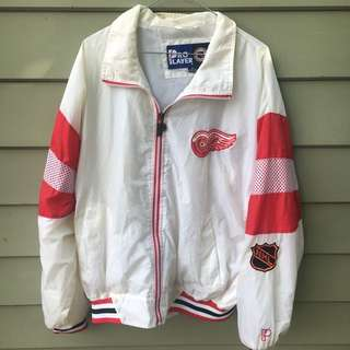 Vintage Red Wings Windbreaker Jacket