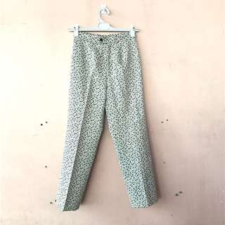 High Waist Printed Pants/ Slacks