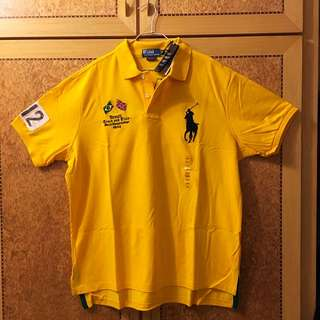 POLO 黃色 巴西 Brazil Polo衫 XXL 全新 RALPH LAUREN