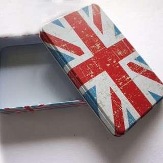 UK Flag Tin Can