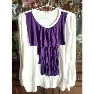 White Tshirt With Purple