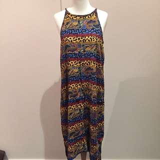 Rusty Tribal Dress 👗 Size 10