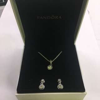 Pandora Necklace And Earrings