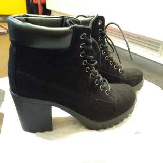 Rubi shoes Chunky Black Boots