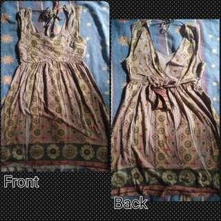 Brown skater dress ( Cotton )
