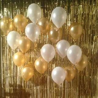 [SALE] Gold/Silver Foil Curtain