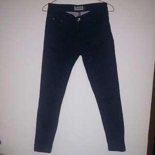 Celana Jeans Nevada Motif Polkadot Putih