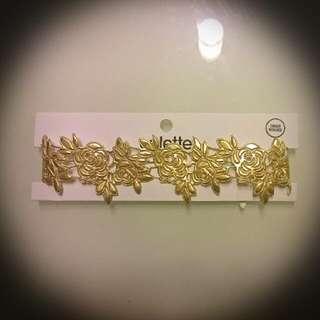 Flower Choker - Gold - Colette