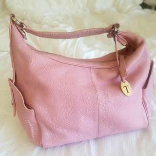 Tods Pink Leather Designer Bag