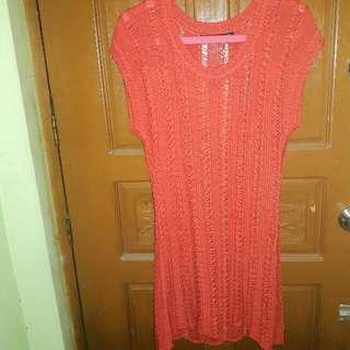 Folded & Hang Coverup /Seethrough Dress