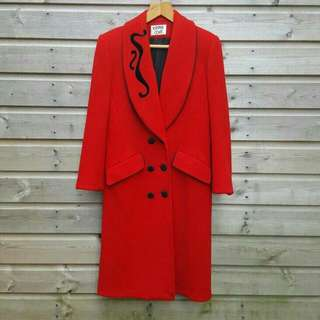 Red Vintage Wool Coat (Kasper Coat)