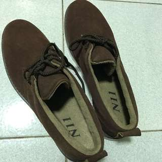 N11尖頭鞋牛津鞋造型鞋休閒鞋短板韓版麂皮英倫風紳士