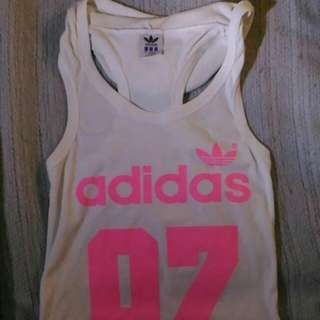Adidas Sporty Top With Hoodie
