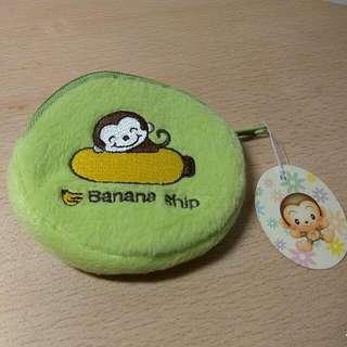 🚚 [Ericaca 愛挖寶] Q版綠底香蕉猴零錢包~全新未使用喔❤