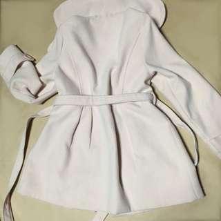 淡粉色大衣 附綁帶