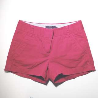 Jcrew Size 0 Red Chino Shorts