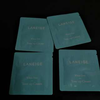 Laneige White Dew Tone Up Cream X4