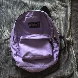 Light Purple Jansport Backpack