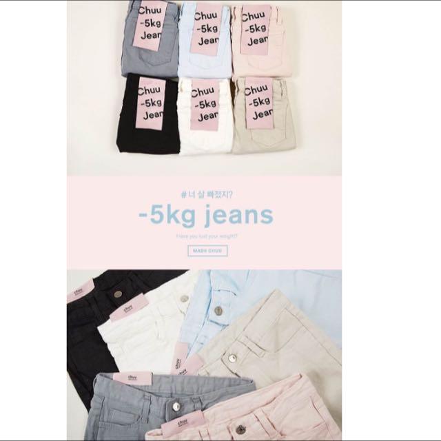 韓國🇰🇷-5kg chuu 黑色小直筒牛仔褲
