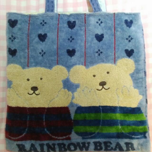 日本品牌*純棉毛巾布包