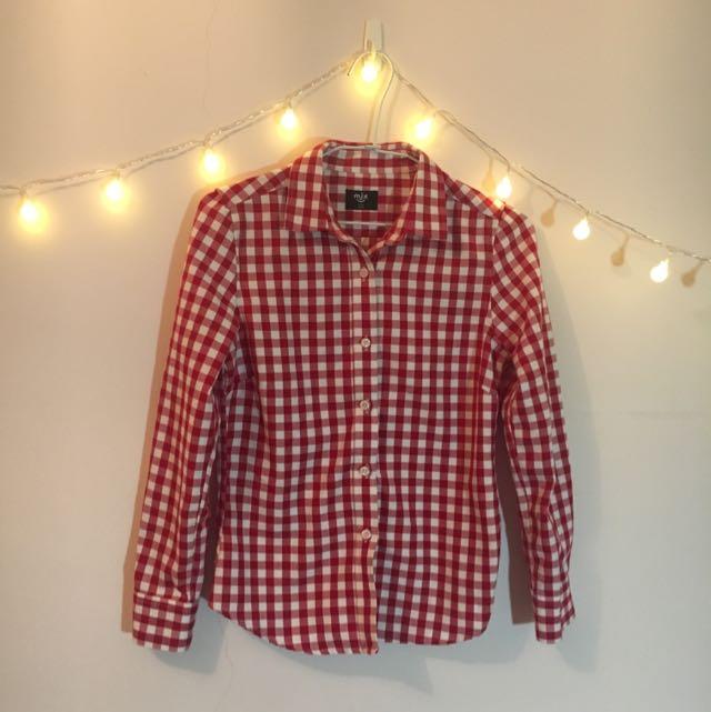 紅白棋盤格襯衫