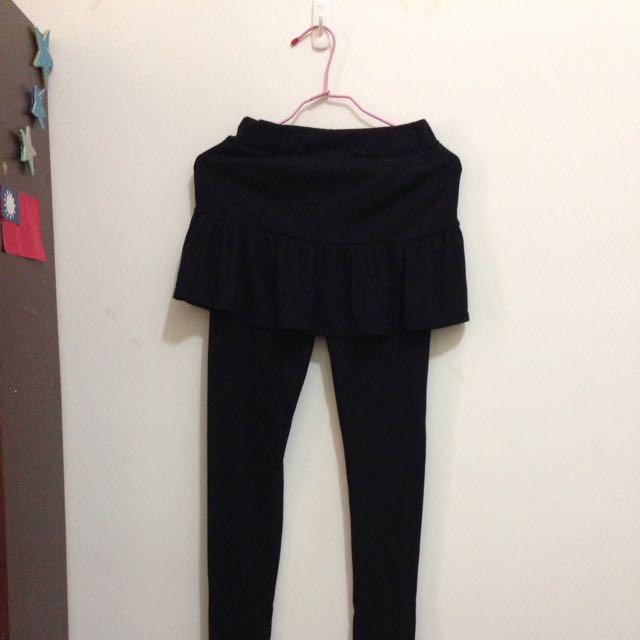 黑色裙擺內搭褲 可換物
