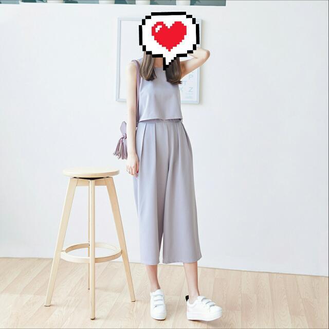 韓系❤灰色套裝