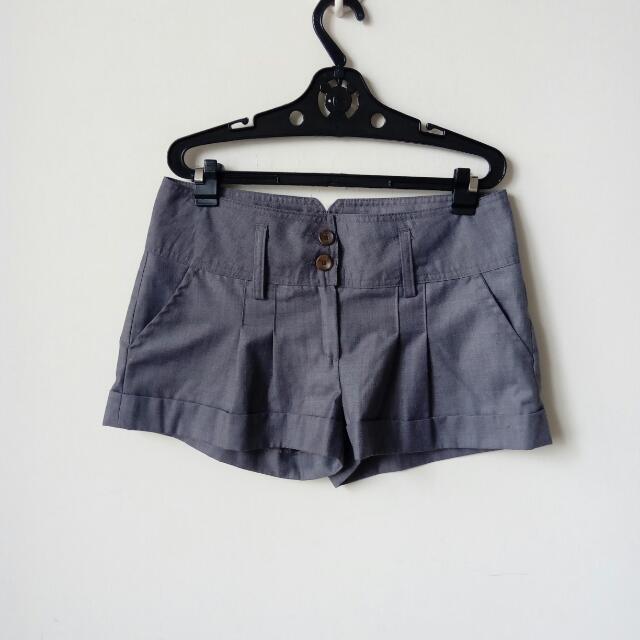 全新正韓製 西裝短褲 灰色短褲 Ol 上班族 通勤韓國空運S號