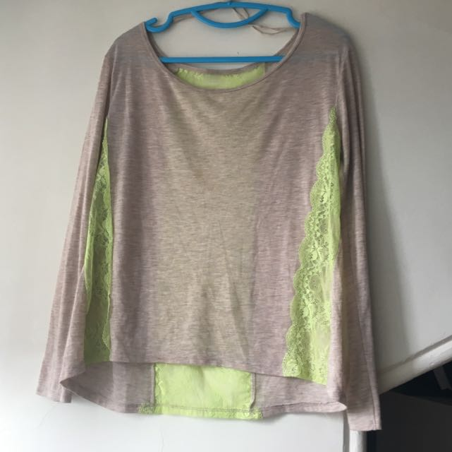 American Eagle Lace Detail Top