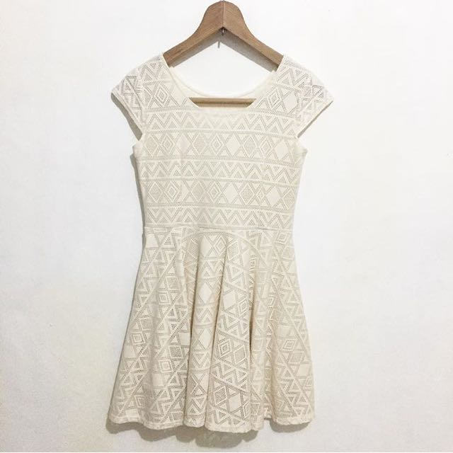 Aztec cream dress