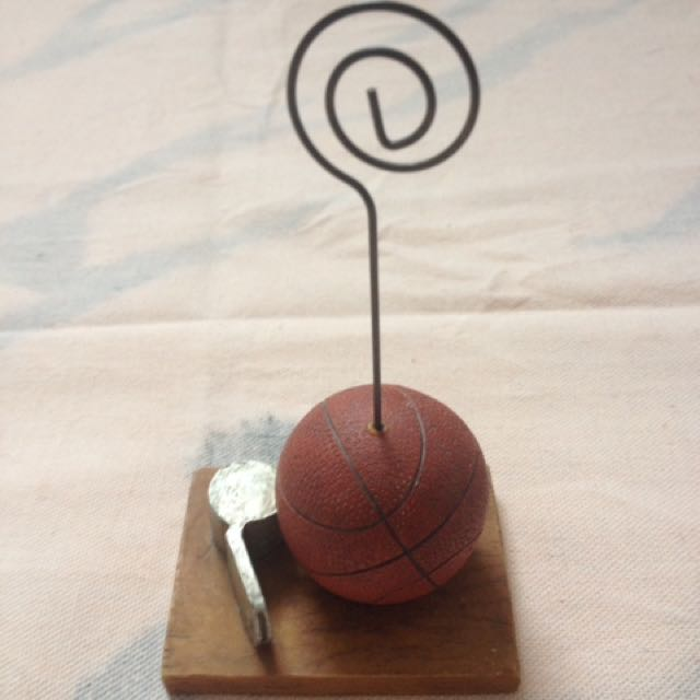 Basketball Paperweight and Noteholder