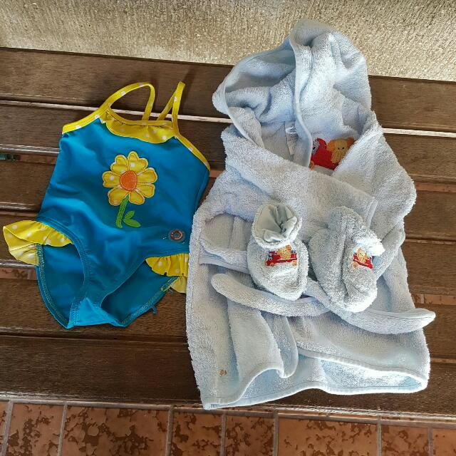 Bathing Suit and Bathrobe set for baby