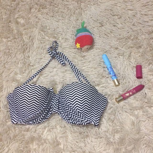 Black And White Aztec Bikini Top