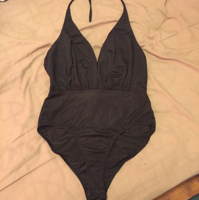 Black Low Cut Body Suit