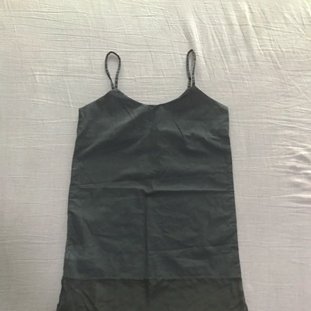 Black Mini Summer Dress/cover Up With Mesh Panel