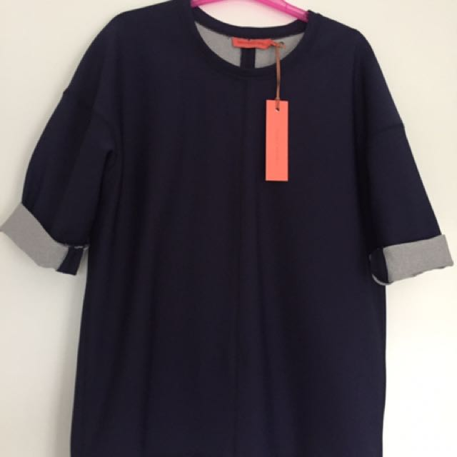 BNWT Manning Cartell Navy Top Size 10