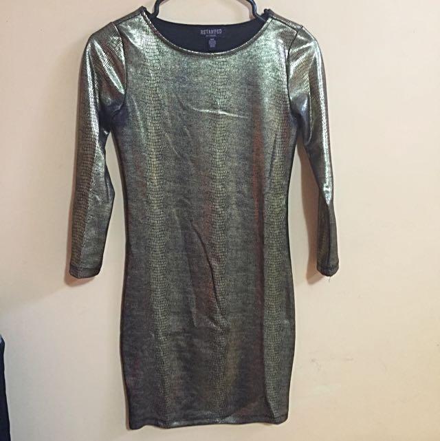Bodycon Black & Gold Dress
