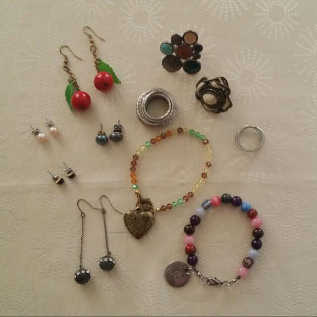 Bracelets, Earrings, Rings