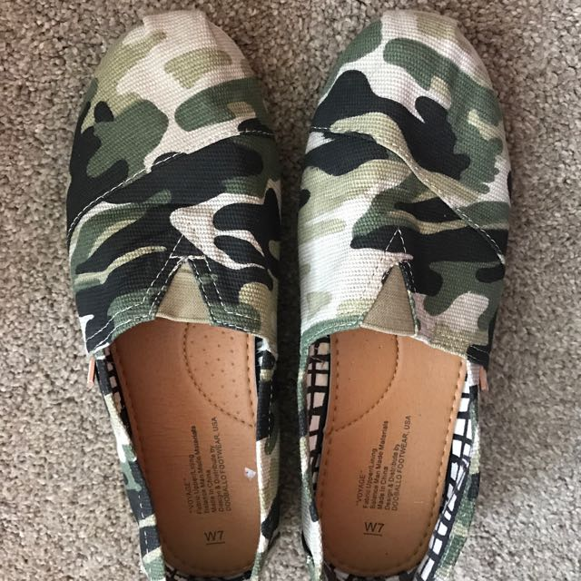 Camouflage Slip On Shoes