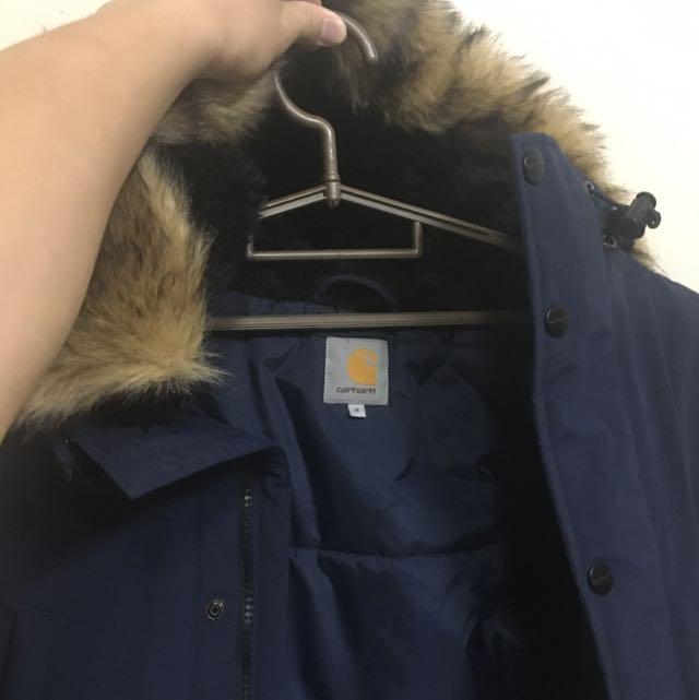 Carhartt 海軍藍 Parka 長版外套大衣s號