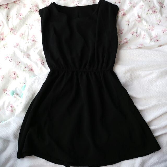 Casual Black Skirt Dress