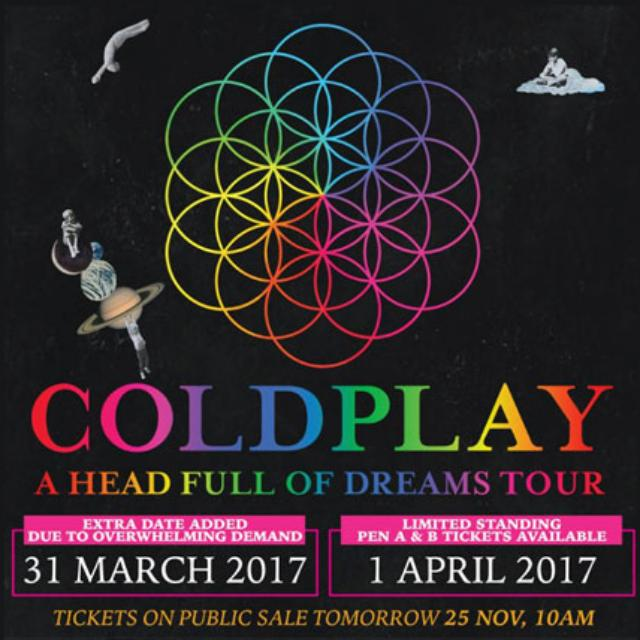 Codplay Concert For 1 Apr