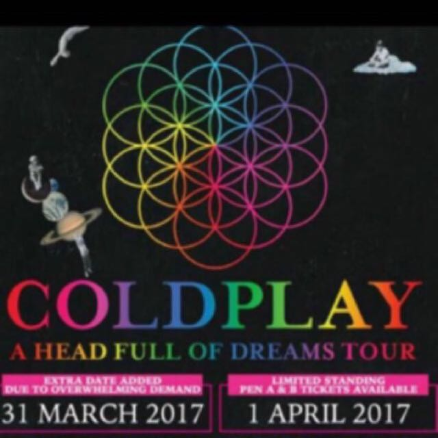 a55e019c1b Coldplay Ticket- Selling For A Friend, Entertainment, Events ...