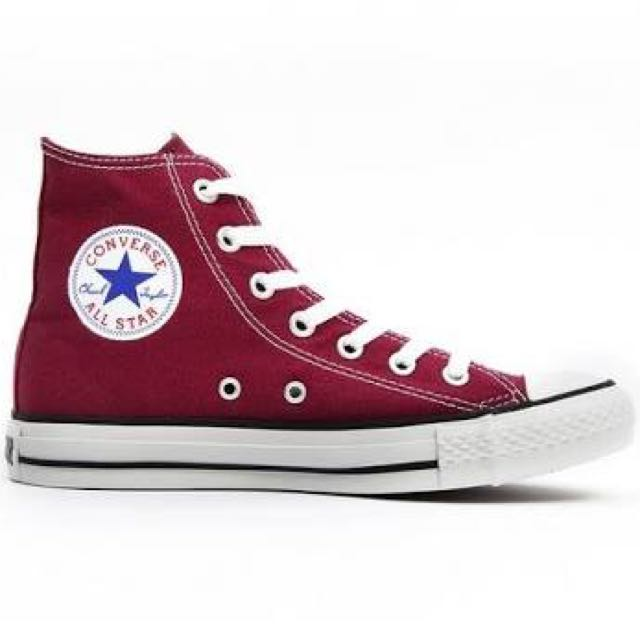 Converse Maroon Red High Tops