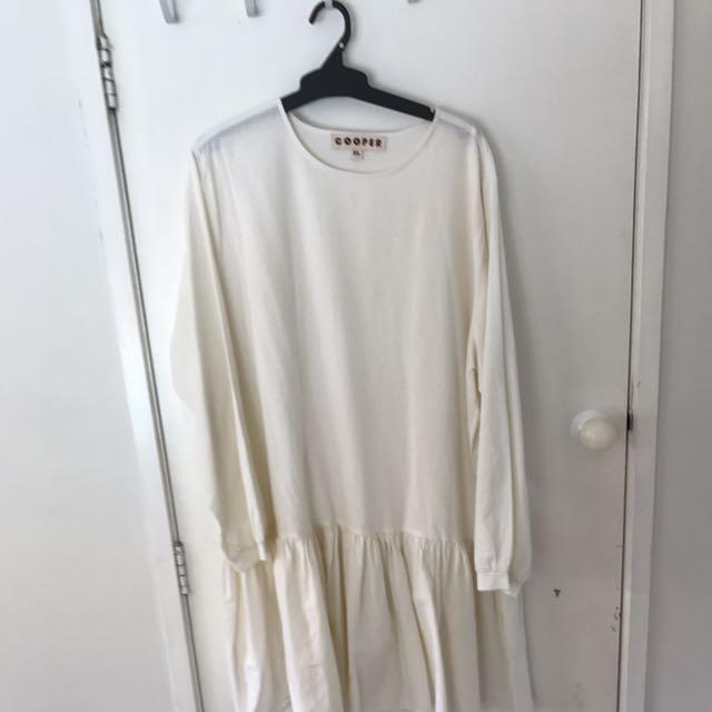 Cooper Cream Drop Hem Dress - Size XL