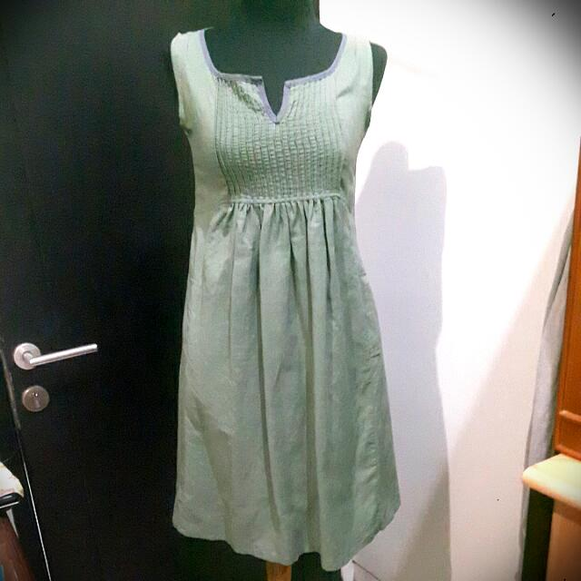 Dress Pleats Dusty Green