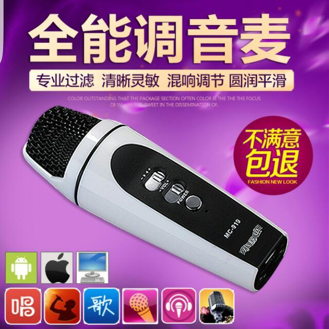 Dual Phone/Laptop Karaoke Microphone