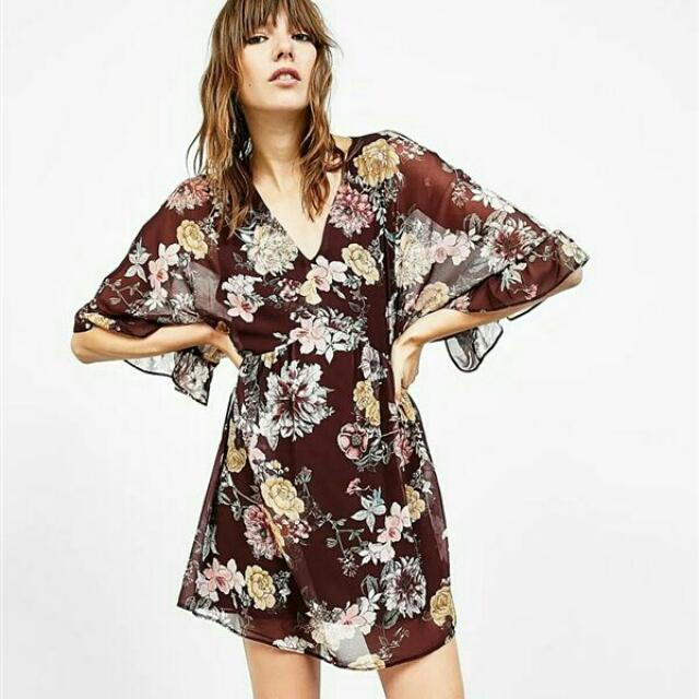 Flowers Chiffon Dress